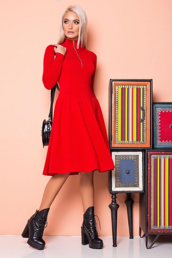 red-dress-ruffles-golden-zipper-half