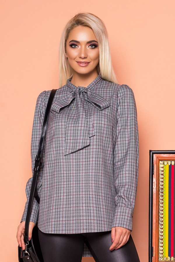blouse-with-tie-gray-cell