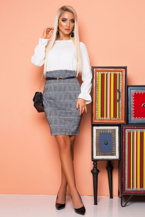 checked-skirt-high-waist-strap