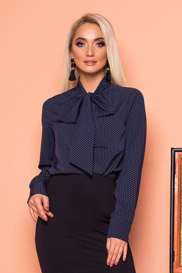 dark-blue-blouse-with-tie-pattern