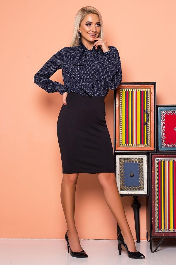 dark-blue-blouse-with-tie-pattern-half