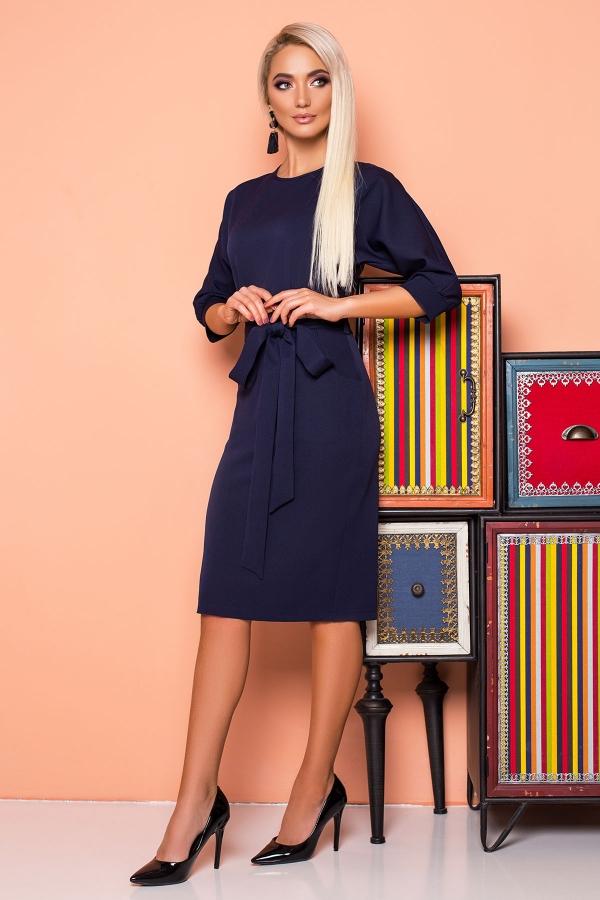 dark-blue-dress-belt-cap-sleeves-half