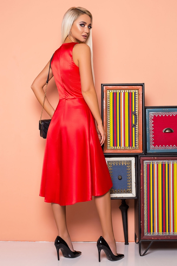 red-satin-dress-back